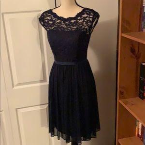 Size 2 Navy Blue Bridesmaid Dress